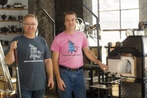 SBDC Clients Charles Wells and Phil Vinson of Mobile Glassblowing Studios